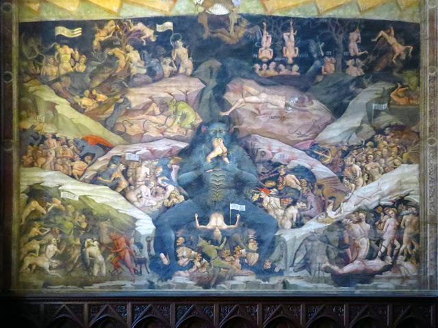 Heaven and Hell fresco by Giovanni da Modena, Chapel of the Magi once Bolognini Chapel, Basilica of San Petronio, Bologna