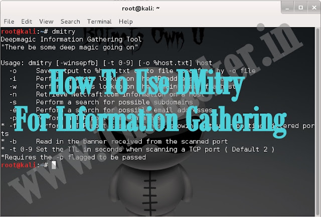 How To Use DMitry For Information Gathering