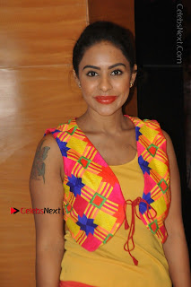 Telugu Actress Model Sri Reddy Latest Stills in Yellow Dress  0019.JPG