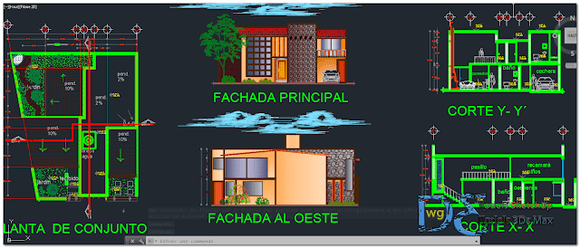 Country cabin project in AutoCAD