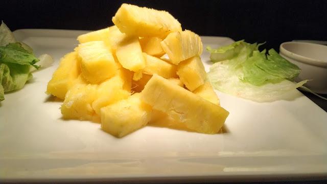 Cut pineapple finger size food recipe dinner ideas