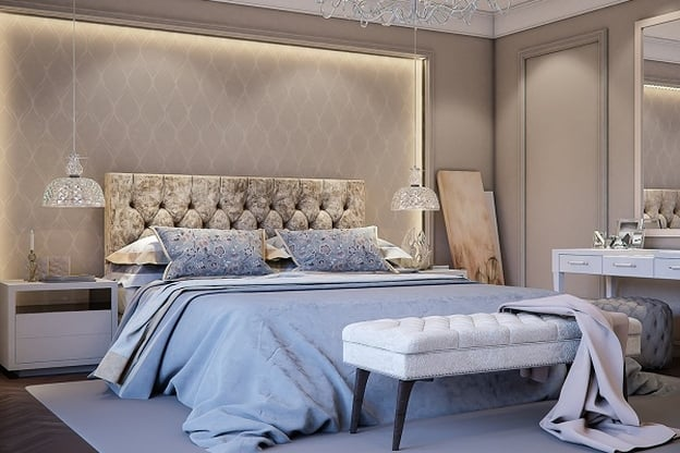 غرفة نوم عصرية