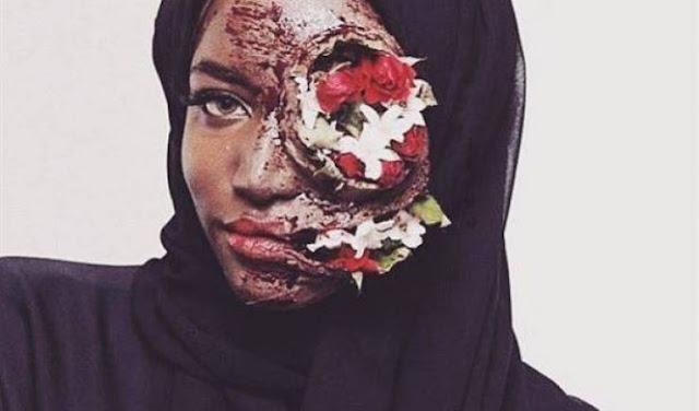 ناشطة سعودية تنشر صورة غريبة… وهذا ما فعلته بوجهها من أجل إيصال هذه الرسالة الغريبة  إليكم ما حدث معها