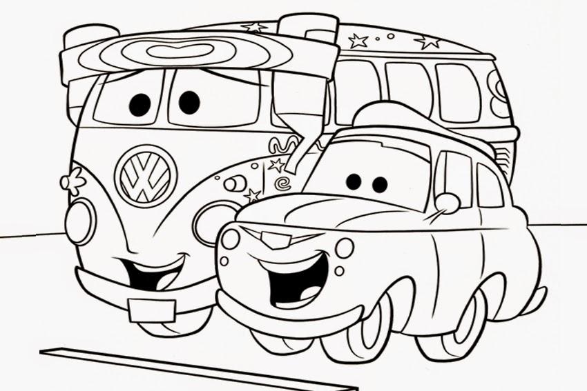 Gambar mewarnai mobil untuk anak download