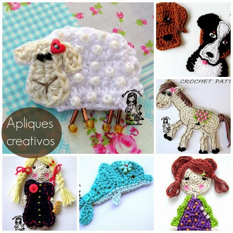 Apliques de Crochet Creativos Tutoriales