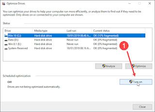 Gambar 3 - Cara Mendefrag Harddisk di Windows 10