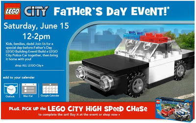 LEGO Fathers Day Event at Toys R Us   Saturday 6/15