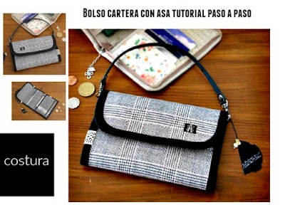 Bolsos monedero-cartera con asa tutorial