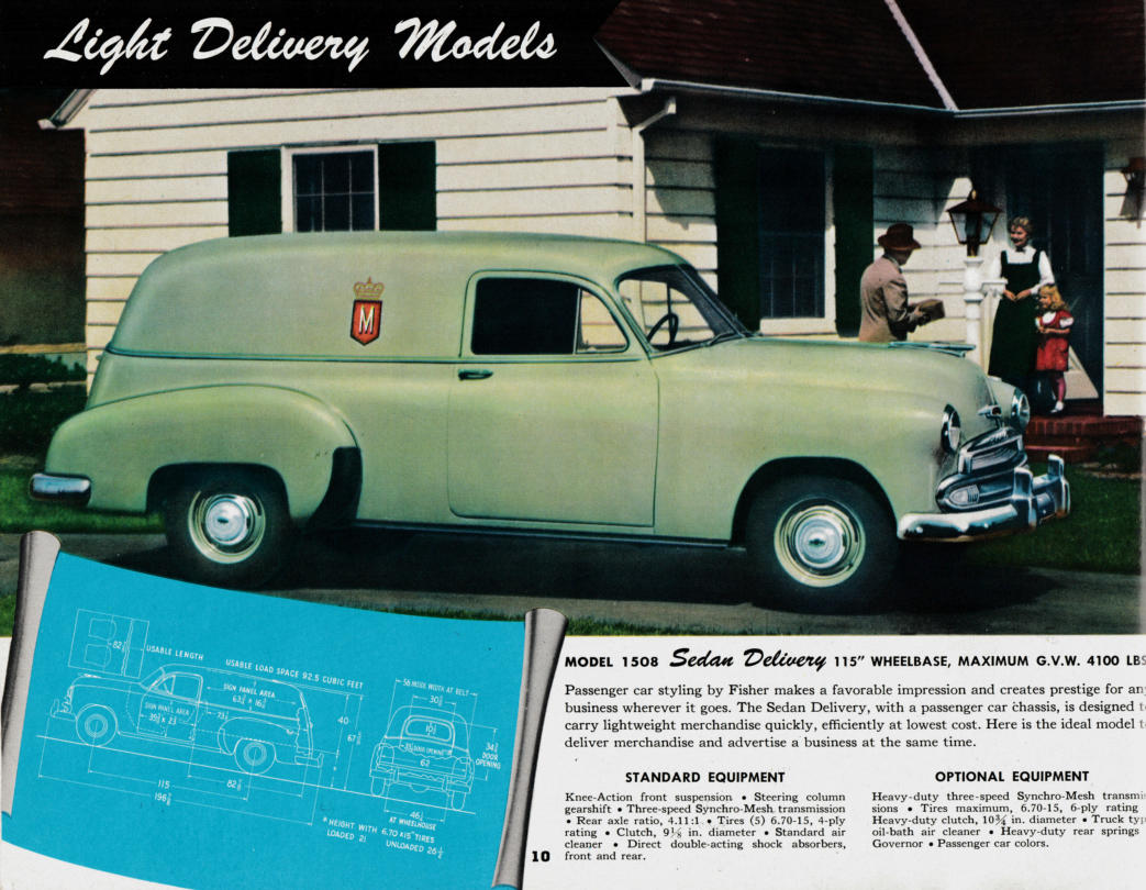 Coupe 1951 chevy coupe parts : Nostalgia on Wheels: 1951 Chevrolet Trucks Brochure - Light Duty