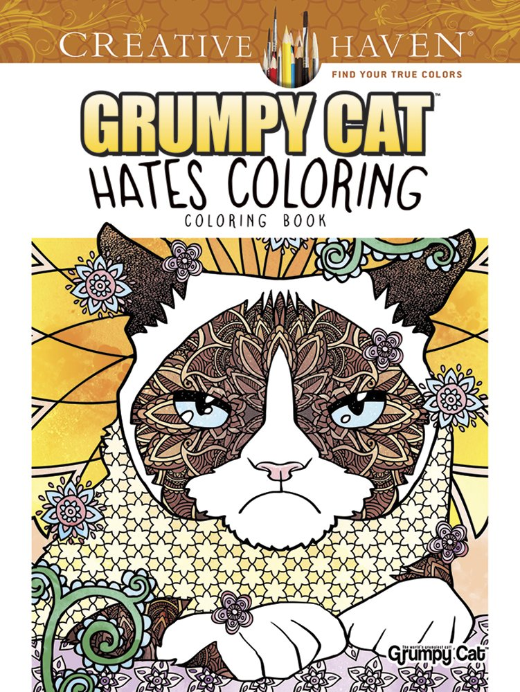 Creative Haven Grumpy Cat Hates Coloring
