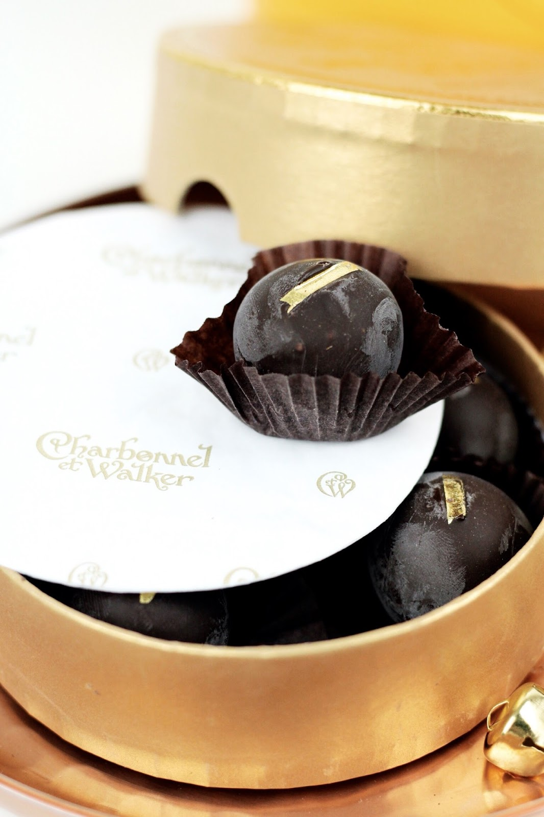 Dark chocolate gold leaf by Charbonnel et Walker