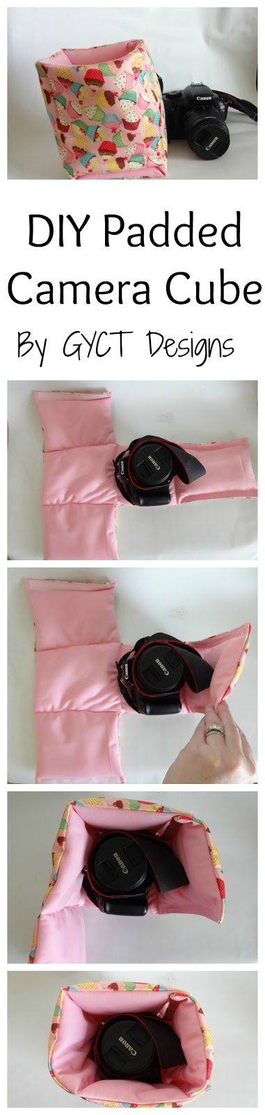 Step by step tutorial to make your own portable camera cases