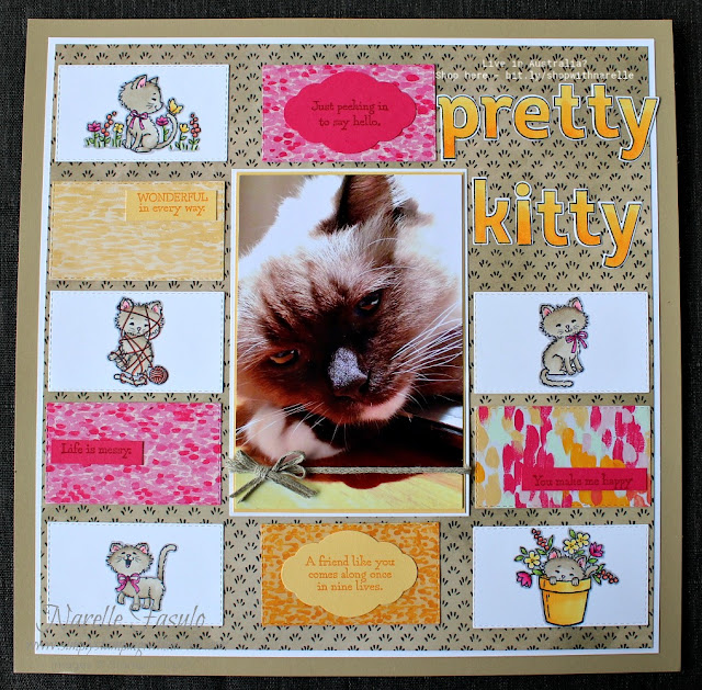 Have you seen the Pretty Kitty stamp set? So much fun to colour. See it here - http://bit.ly/shopwithnarelle
