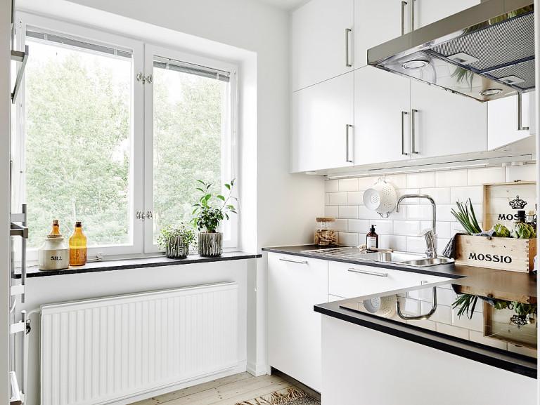 decoración piso de alquiler amueblado con cocina blanca