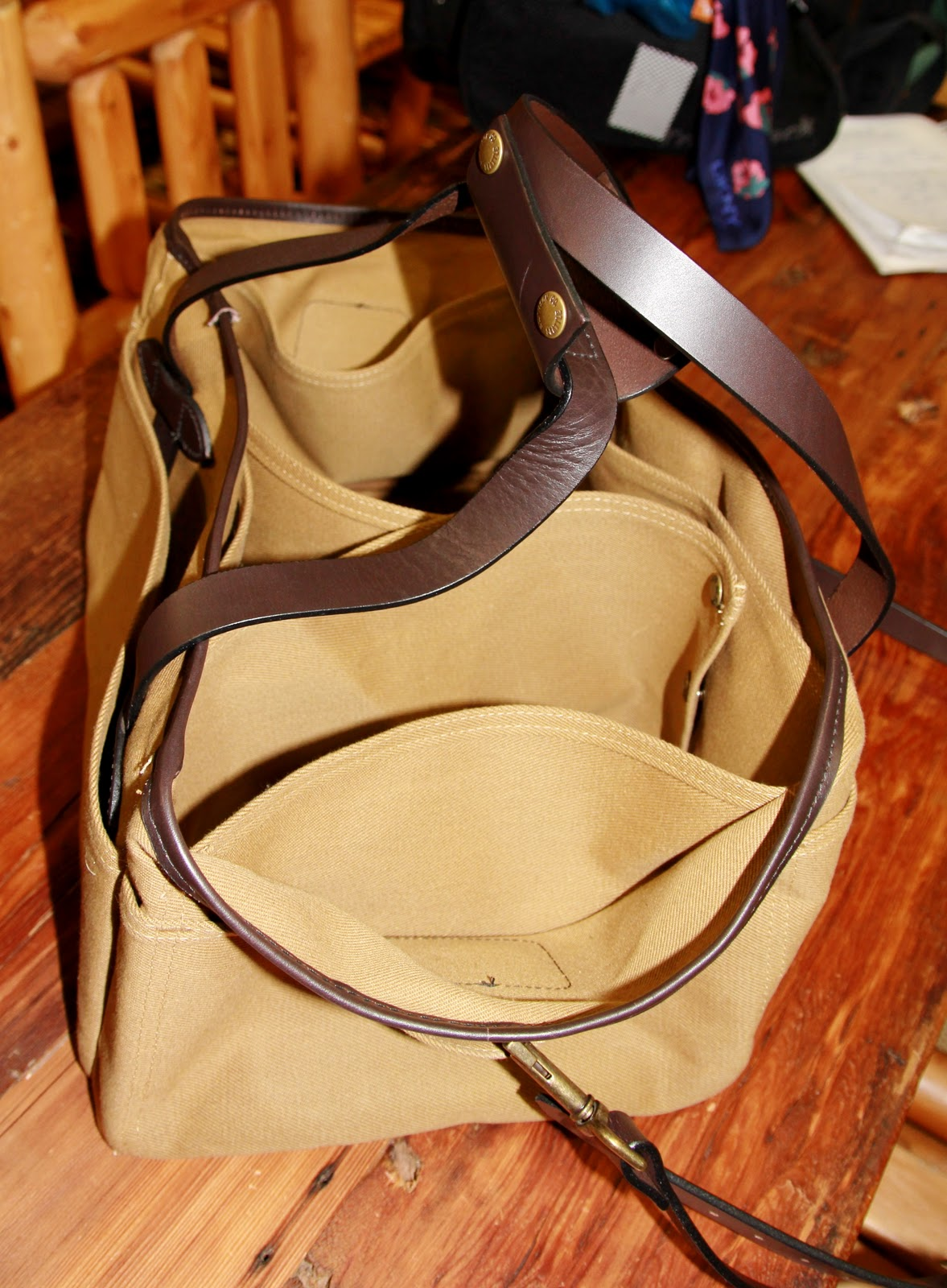fa50530f0 ... every piece-NOW-assortment of rugged haulers---made with the Tin Cloth  or sturdy 100% Cotton Duck Canvas- and trimmed with handsome bridle  leather/nylon ...