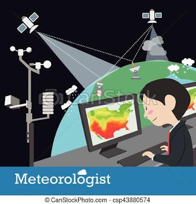 Ilustrasi ahli cuaca dan iklim