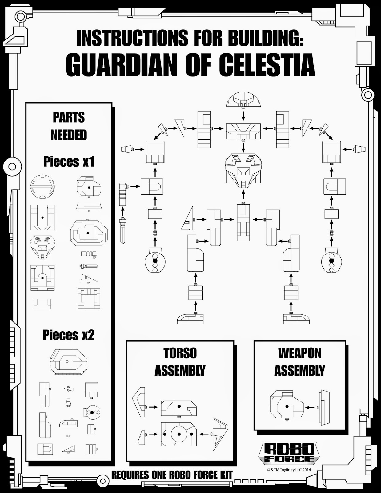 The WORLD OF TOYFINITY: Guardian instructions!