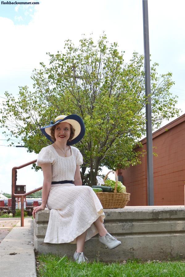 Flashback Summer: Springfield, Missouri C-Street Farmer's Market, 1930s Dress