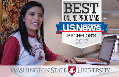 WSU Global Campus Online Degrees Ranked 15th in the Nation