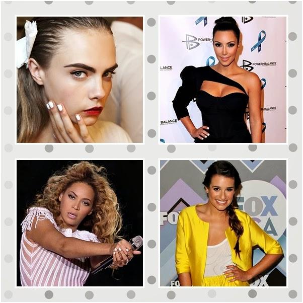 Esmalte Branco Corretivo Unhas White Nails Cara Delevingne Kim Kardashian Beyonce Lea Michele