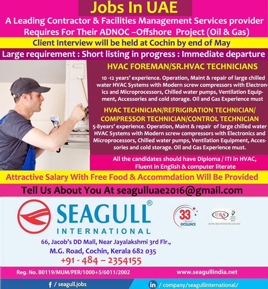 Client Interview will be held at Cochin by end of May