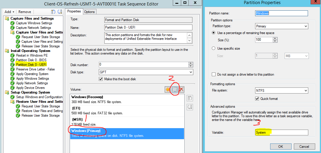 Operating System Deployment (OSD) with USMT Task Sequence