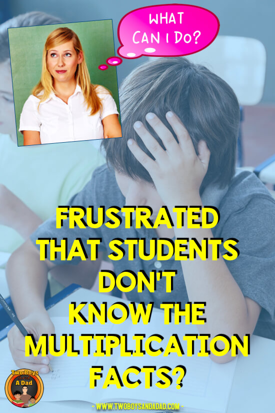 Frustrated that Students Don\'t Know The Multiplication Facts? - Two ...