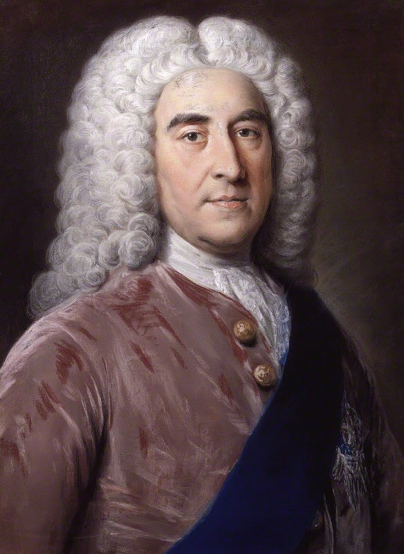 Thomas Pelham-Holles,  1st Duke of Newcastle-under-Lyne  by William Hoare (c1752) © NPG 757 (1)