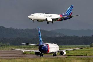 Penerbangan Jakarta-Banyuwangi dengan Sriwijaya Air.