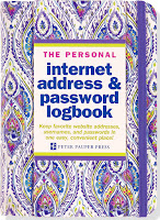 This personal password logbook is a great way to store all the passwords you use online.