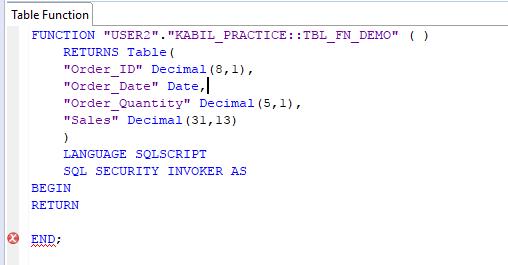 SAP HANA: Table Functions | HANA