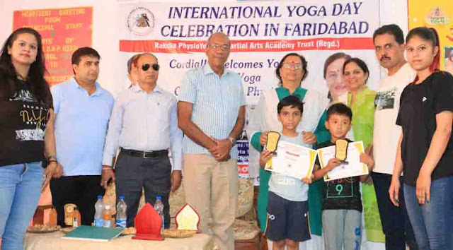 Winners of Yoga Competition on World Yoga Day have been honored by Trisha