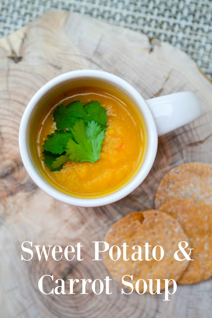 Lightly Spiced Sweet Potato and Carrot Soup