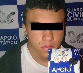 Apoio tático da Guarda Civil Municipal de Leme aprende menor por tráfico de drogas pelo Bairro Primavera