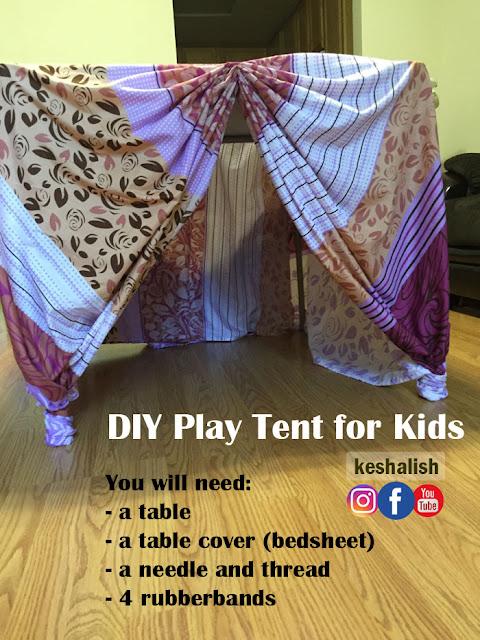 newest 294ee 8f800 keshalish: Simple DIY Play Tent for Kids | Make Indoor Play ...