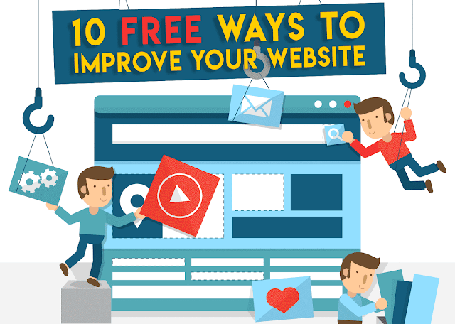 how to improve your website for free