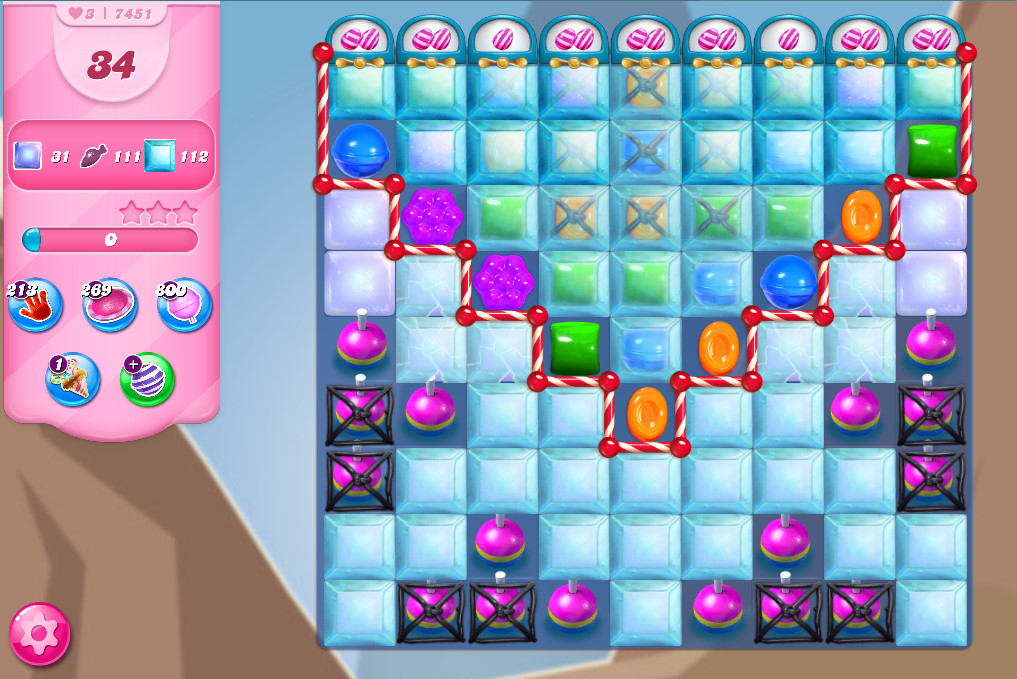 Candy Crush Saga level 7451