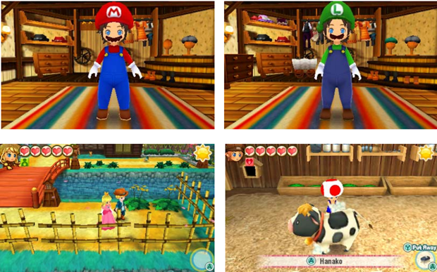 Story of Seasons: Trio of Towns Game Feature Super Mario Bros Character Costumes
