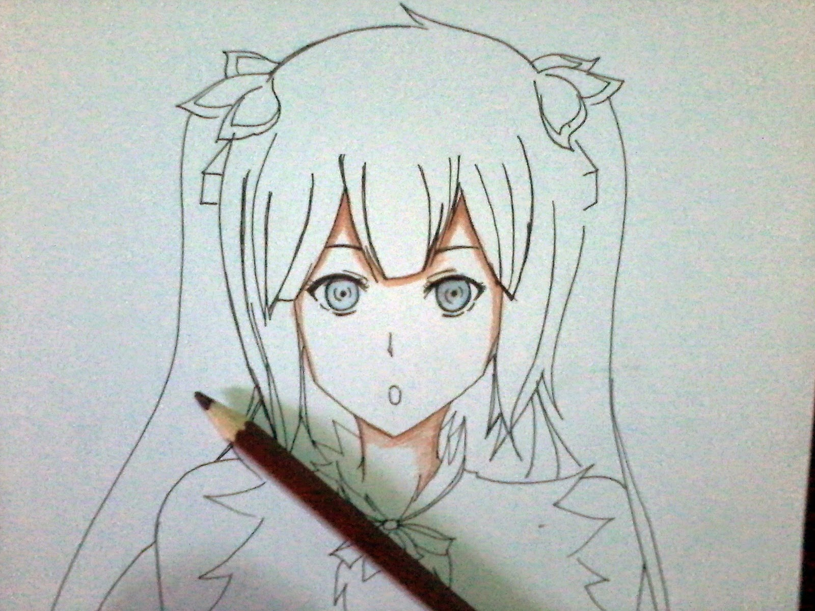 Cara Gambar Ilustrasi Anime   Hilustrasi
