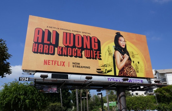 Ali Wong Hard knock wife billboard