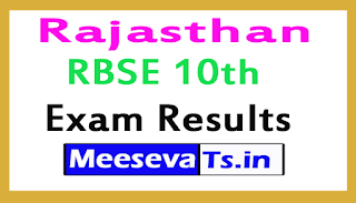Rajasthan RBSE 10th Exam  Result 2017