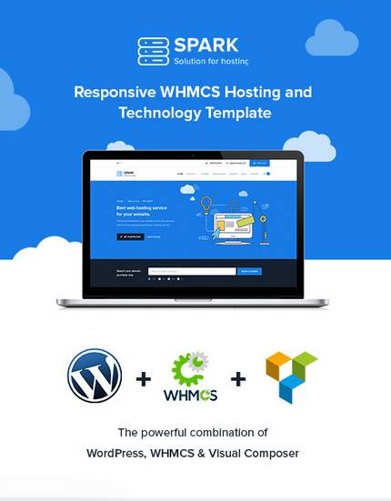 download Spark Responsive WHMCS Hosting WordPress Theme