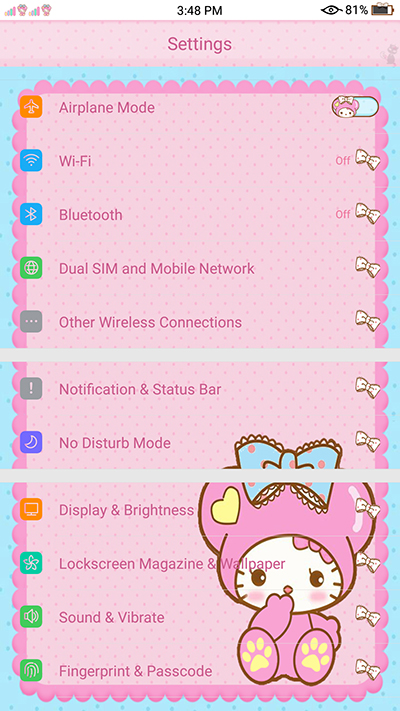 Oppo F3 | F3 Plus | A39 | A57 Theme:Candy Colored Cathy Theme