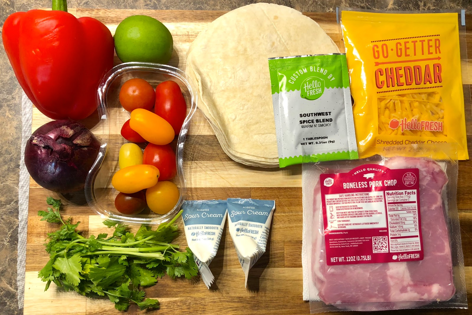 22nd Hello Fresh Meal Kit Delivery Review & $40 Coupon - Blue Skies for Me Please