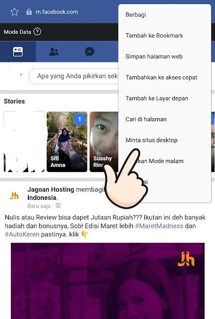 Cara Membuka Facebook Versi Desktop Terbaru pada Android