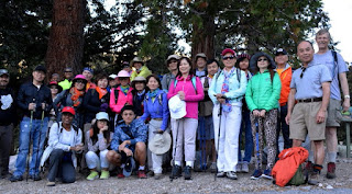 Hikemasters group shot at Windy Gap trailhead, Crystal Lake, Angeles National Forest. Photo by Cheryl Williams