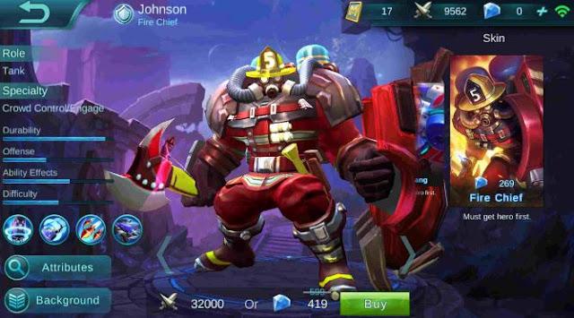 Cara Menggunakan Johnson Mobile Legends