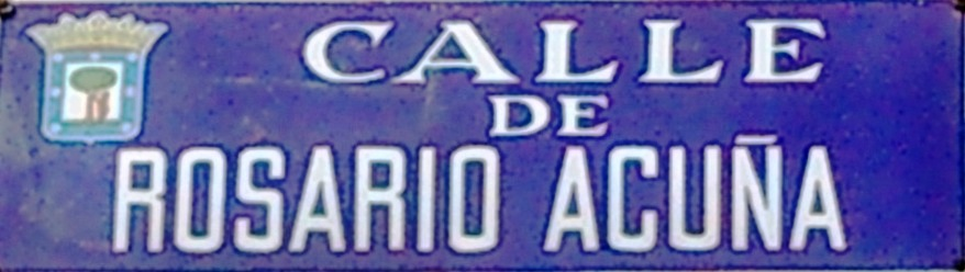 Placa de una calle con su nombre