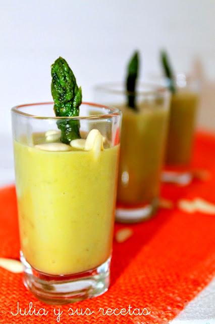 Crema de espárragos verdes. Julia y sus recetas