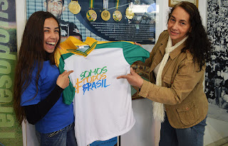 Paloma com a mãe, Rosinete Oliveira: momento ficará eternizado